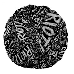 Panic At The Disco Lyric Quotes Retina Ready Large 18  Premium Round Cushions by Onesevenart