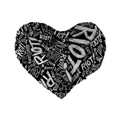 Panic At The Disco Lyric Quotes Retina Ready Standard 16  Premium Heart Shape Cushions by Onesevenart