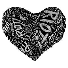 Panic At The Disco Lyric Quotes Retina Ready Large 19  Premium Heart Shape Cushions by Onesevenart