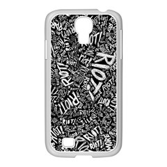 Panic At The Disco Lyric Quotes Retina Ready Samsung Galaxy S4 I9500/ I9505 Case (white) by Onesevenart