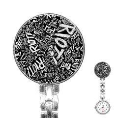 Panic At The Disco Lyric Quotes Retina Ready Stainless Steel Nurses Watch by Onesevenart