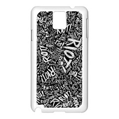 Panic At The Disco Lyric Quotes Retina Ready Samsung Galaxy Note 3 N9005 Case (white) by Onesevenart