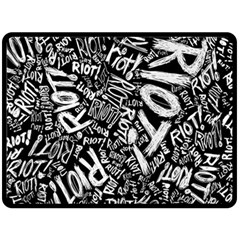 Panic At The Disco Lyric Quotes Retina Ready Double Sided Fleece Blanket (large)  by Onesevenart