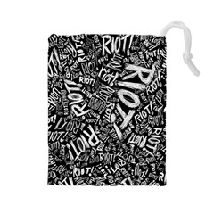 Panic At The Disco Lyric Quotes Retina Ready Drawstring Pouches (large)  by Onesevenart