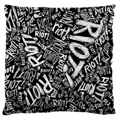 Panic At The Disco Lyric Quotes Retina Ready Large Flano Cushion Case (one Side) by Onesevenart