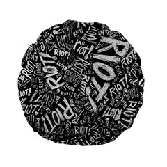 Panic At The Disco Lyric Quotes Retina Ready Standard 15  Premium Flano Round Cushions by Onesevenart