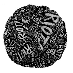 Panic At The Disco Lyric Quotes Retina Ready Large 18  Premium Flano Round Cushions by Onesevenart