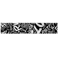 Panic At The Disco Lyric Quotes Retina Ready Flano Scarf (large) by Onesevenart