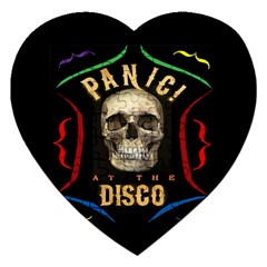 Panic At The Disco Poster Jigsaw Puzzle (heart) by Onesevenart
