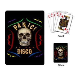 Panic At The Disco Poster Playing Card by Onesevenart