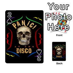 Panic At The Disco Poster Playing Cards 54 Designs  by Onesevenart