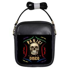 Panic At The Disco Poster Girls Sling Bags by Onesevenart