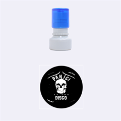 Panic At The Disco Poster Rubber Round Stamps (small) by Onesevenart