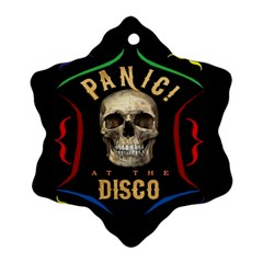 Panic At The Disco Poster Ornament (snowflake)  by Onesevenart