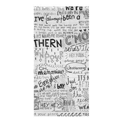 Panic At The Disco Lyrics Shower Curtain 36  X 72  (stall)  by Onesevenart