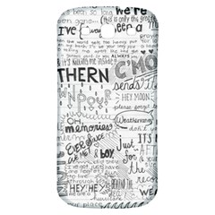 Panic At The Disco Lyrics Samsung Galaxy S3 S Iii Classic Hardshell Back Case by Onesevenart
