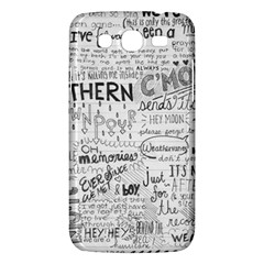 Panic At The Disco Lyrics Samsung Galaxy Mega 5 8 I9152 Hardshell Case  by Onesevenart