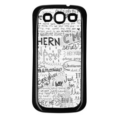 Panic At The Disco Lyrics Samsung Galaxy S3 Back Case (black) by Onesevenart