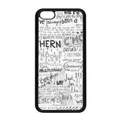 Panic At The Disco Lyrics Apple Iphone 5c Seamless Case (black) by Onesevenart