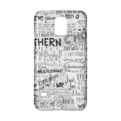 Panic At The Disco Lyrics Samsung Galaxy S5 Hardshell Case  by Onesevenart