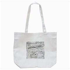 Panic At The Disco Lyrics Tote Bag (white) by Onesevenart