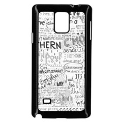 Panic At The Disco Lyrics Samsung Galaxy Note 4 Case (black) by Onesevenart