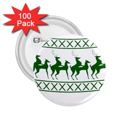 Humping Reindeer Ugly Christmas 2 25  Buttons (100 Pack)  by Onesevenart