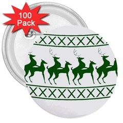 Humping Reindeer Ugly Christmas 3  Buttons (100 Pack)  by Onesevenart
