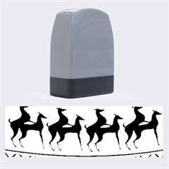 Humping Reindeer Ugly Christmas Name Stamps by Onesevenart
