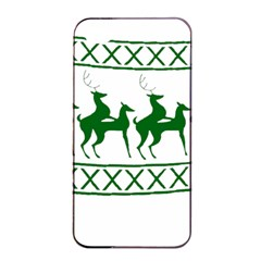 Humping Reindeer Ugly Christmas Apple Iphone 4/4s Seamless Case (black) by Onesevenart