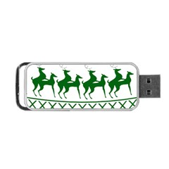 Humping Reindeer Ugly Christmas Portable Usb Flash (two Sides) by Onesevenart