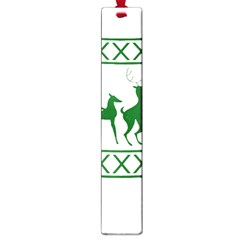 Humping Reindeer Ugly Christmas Large Book Marks by Onesevenart