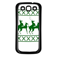 Humping Reindeer Ugly Christmas Samsung Galaxy S3 Back Case (black) by Onesevenart
