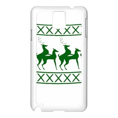 Humping Reindeer Ugly Christmas Samsung Galaxy Note 3 N9005 Case (white) by Onesevenart