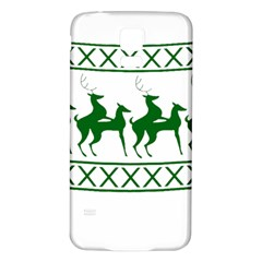 Humping Reindeer Ugly Christmas Samsung Galaxy S5 Back Case (white) by Onesevenart