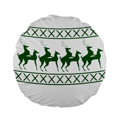 Humping Reindeer Ugly Christmas Standard 15  Premium Flano Round Cushions by Onesevenart