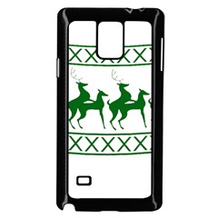 Humping Reindeer Ugly Christmas Samsung Galaxy Note 4 Case (black) by Onesevenart