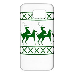 Humping Reindeer Ugly Christmas Galaxy S6 by Onesevenart