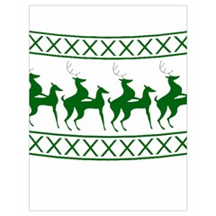 Humping Reindeer Ugly Christmas Drawstring Bag (large) by Onesevenart