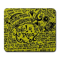 Panic! At The Disco Lyric Quotes Large Mousepads by Onesevenart