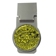 Panic! At The Disco Lyric Quotes Money Clips (round)  by Onesevenart