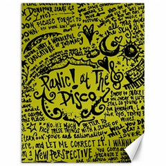 Panic! At The Disco Lyric Quotes Canvas 12  X 16   by Onesevenart