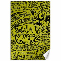 Panic! At The Disco Lyric Quotes Canvas 20  X 30   by Onesevenart