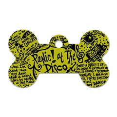 Panic! At The Disco Lyric Quotes Dog Tag Bone (one Side) by Onesevenart