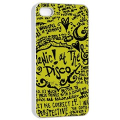 Panic! At The Disco Lyric Quotes Apple Iphone 4/4s Seamless Case (white) by Onesevenart