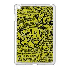 Panic! At The Disco Lyric Quotes Apple Ipad Mini Case (white) by Onesevenart