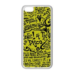 Panic! At The Disco Lyric Quotes Apple Iphone 5c Seamless Case (white) by Onesevenart