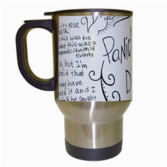 Panic! At The Disco Lyrics Travel Mugs (white) by Onesevenart