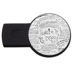 Panic! At The Disco Lyrics Usb Flash Drive Round (4 Gb)  by Onesevenart
