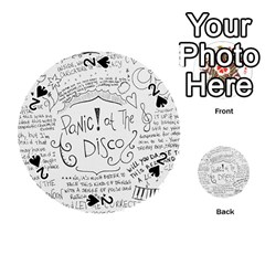 Panic! At The Disco Lyrics Playing Cards 54 (round)  by Onesevenart